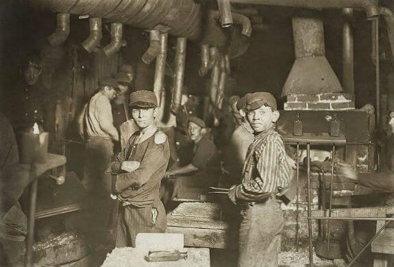 Fabrica de vidrio en Inglaterra