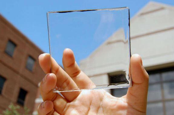 tecnología solar transparente