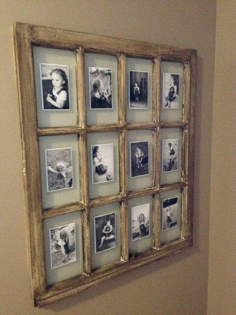 Collage de fotos con ventanas viejas