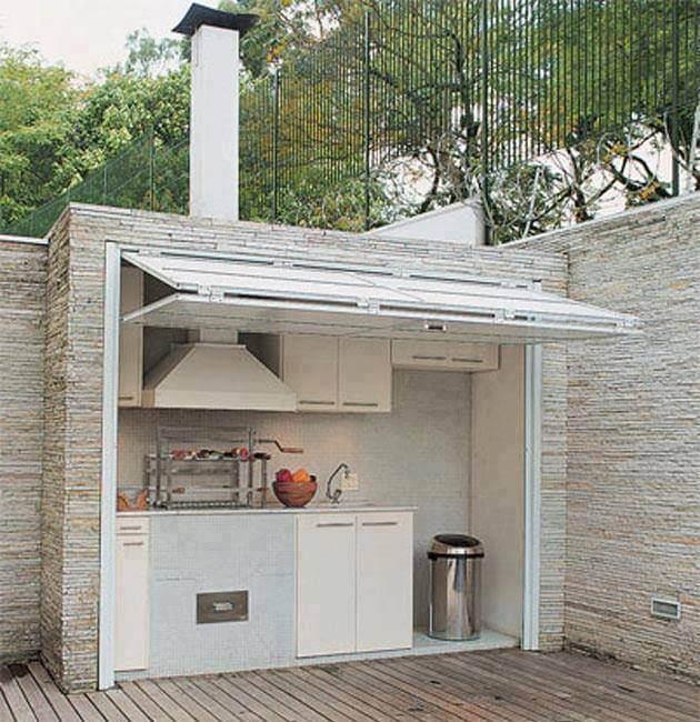 Cocina de exterior encastrada