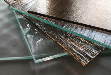 vidrio impreso vintage